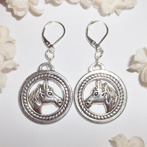 Horse Earrings Jewelry Colt Mare Country Set 4263